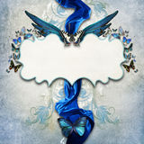 Vintage background with butterfly Royalty Free Stock Images