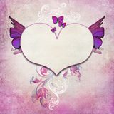 Vintage background with butterfly Stock Photography