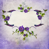 Vintage background with butterfly Royalty Free Stock Photo