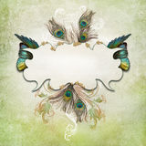 Vintage background with butterfly Royalty Free Stock Image