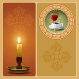 Vintage background with candle Royalty Free Stock Image