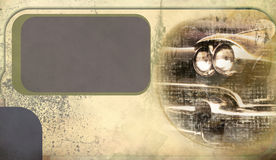 Vintage background with a car Stock Images