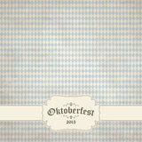 Vintage background with checkered pattern for Oktoberfest 2015 Royalty Free Stock Photo