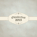 vintage background with checkered pattern for Oktoberfest 2015 Royalty Free Stock Photos