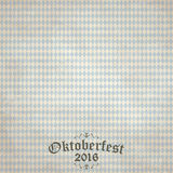 Vintage background with checkered pattern for Oktoberfest 2016. Old vintage background with checkered pattern and patch Oktoberfest 2016 Stock Illustration