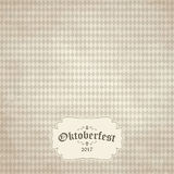 Vintage background with checkered pattern for Oktoberfest 2017 Stock Photos
