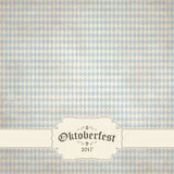 Vintage background with checkered pattern for Oktoberfest 2017 Royalty Free Stock Photo