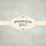 Vintage background with checkered pattern for Oktoberfest 2017 Royalty Free Stock Image
