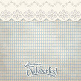 Vintage background with checkered pattern for Oktoberfest 2016. Old vintage background with checkered pattern and patch with text Welcome to Oktoberfest 2016 (in royalty free illustration