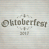 Vintage background with checkered pattern for Oktoberfest 2017 Stock Photography