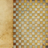 Vintage background with chess ornament. Vintage abstract background with chequered chess ornament stock illustration