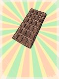Vintage background with chocolate Stock Image