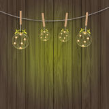 Vintage background with Christmas balls Royalty Free Stock Images