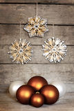 Vintage background with christmas balls Royalty Free Stock Photos