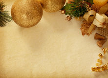 Vintage background with  Christmas decoration. Royalty Free Stock Images