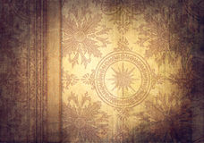 Vintage background with classy patterns Stock Image