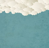 Vintage Background With Clouds Royalty Free Stock Photo