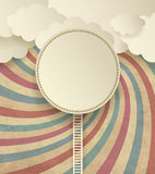 Vintage Background With Clouds Royalty Free Stock Photography