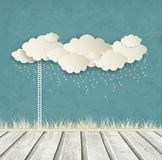 Vintage Background With Clouds And Drops Royalty Free Stock Photos