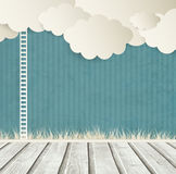 Vintage Background With Clouds And Ladder Royalty Free Stock Photos