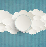 Vintage Background With Clouds Stock Image