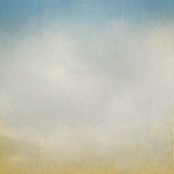 Vintage background with clouds on Watercolor Paper linen texture. Stock Photography