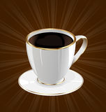 Vintage background with coffee cup Royalty Free Stock Photos