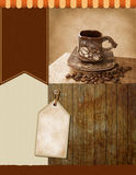Vintage background for coffee flyer Royalty Free Stock Images