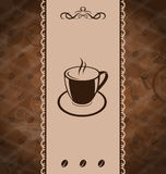 Vintage background for coffee menu Royalty Free Stock Image
