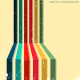 Vintage background with colored stripes. Abstract geometric pattern. Vector illustration Stock Images