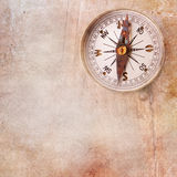 Vintage background with compass Royalty Free Stock Image