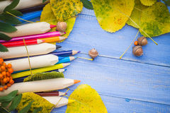 Vintage background Concept autumn back school Royalty Free Stock Image