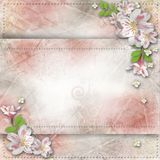 Vintage background for congratulations an Stock Photography