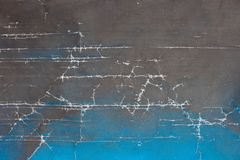 Vintage background with cracks and gradient from black to blue. royalty free stock image
