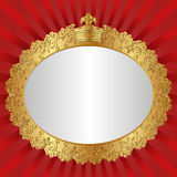 Vintage background. With crown - vector illustration Royalty Free Stock Photos