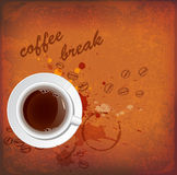 Vintage background with cup of coffee Royalty Free Stock Photography