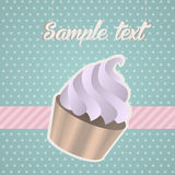 Vintage background with cupcake Royalty Free Stock Photography