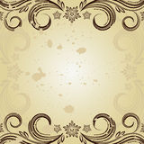 Vintage background with curled. Stock Photos