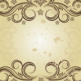 Vintage background with curled. Vintage background - Illustration for your design Stock Photography