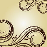 Vintage background with curled elements Stock Photography