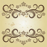 Vintage background with curled elements Stock Image
