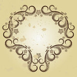 Vintage background with curled elements. Illustration for your design Royalty Free Stock Images