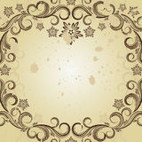 Vintage background with curled elements Royalty Free Stock Images