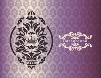 Vintage background with damask ornaments Stock Images