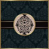 Vintage background with damask ornaments Stock Photo