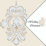Vintage background with damask ornaments Royalty Free Stock Image