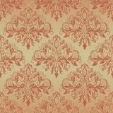 Vintage background with damask pattern in retro style. Damask seamless pattern for design. Vector Illustration vector illustration