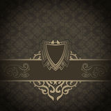 Vintage background with decorative border and ornament. Royalty Free Stock Images