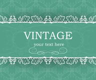Vintage background with decorative frame. Elegant design element template with place for your text. Floral border. Royalty Free Stock Images
