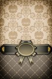 Vintage background with decorative frame and elegant floral patterns royalty free stock photos
